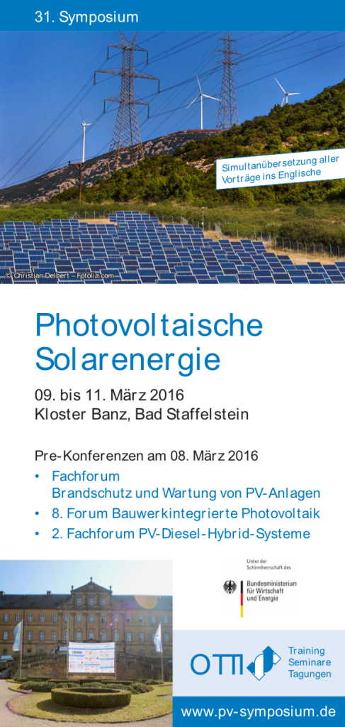 31. PV-Symposium Bad Staffelstein