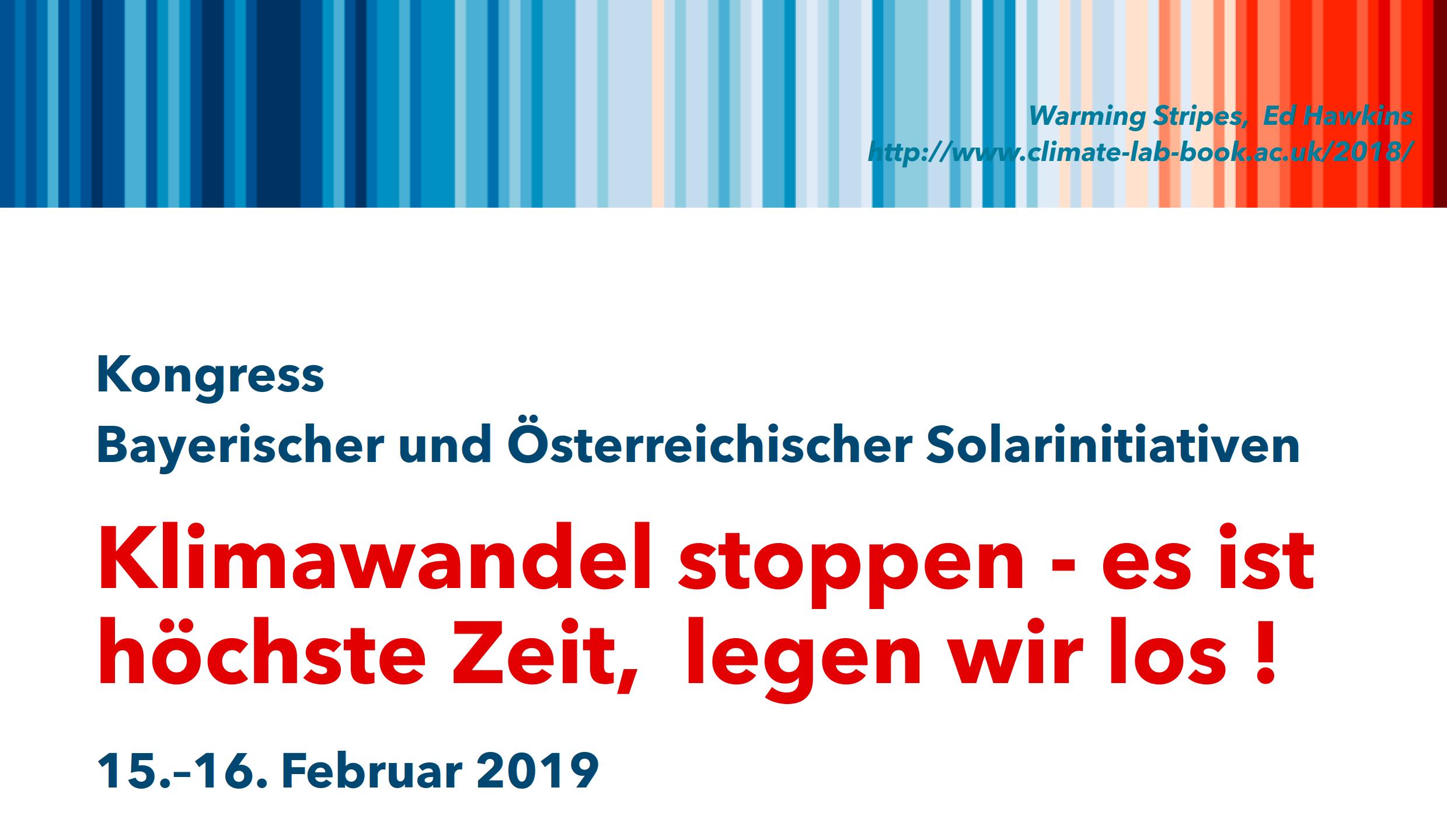 Kongress Bayerischer und Österreichischer Solarinitiativen